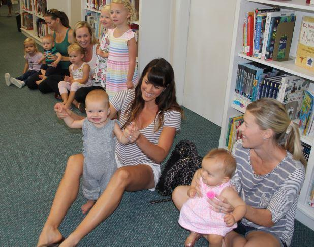 Little ones enjoy Hullaballoo at the RSF Library.
