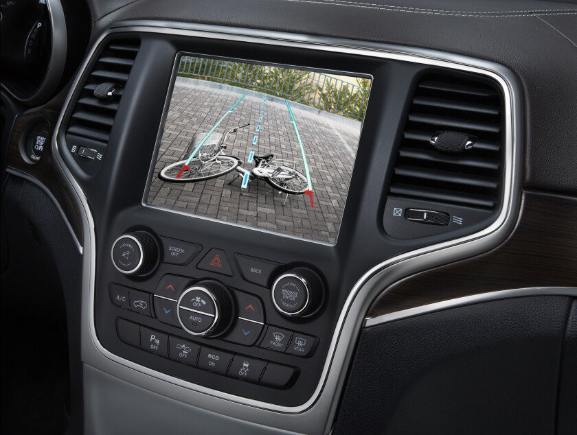 Rear visibility technology, like this backup camera on a 2014 Jeep Grand Cherokee, will be required in all vehicles built in and after May 2018.