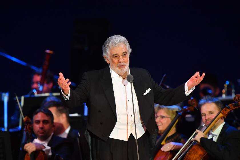Plácido Domingo in August in Szeged, Hungary.