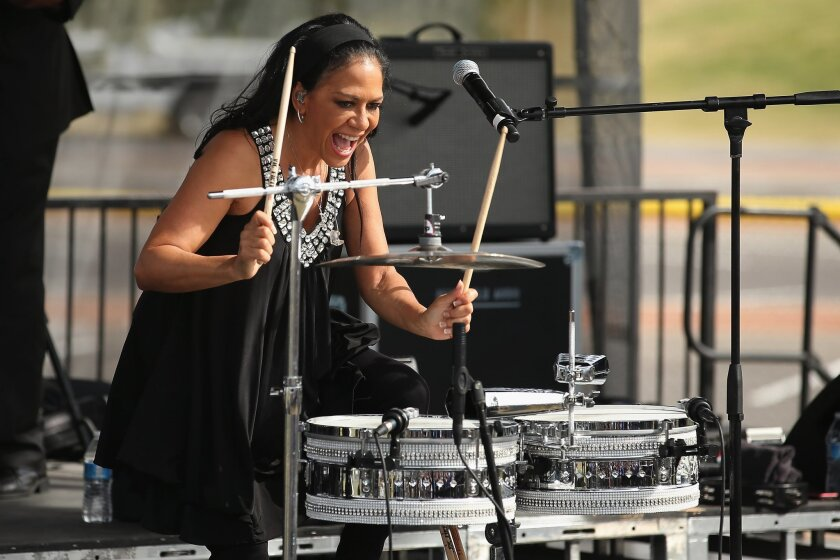 Musican and actress Sheila Escovedo, known by her stage name Sheila E.