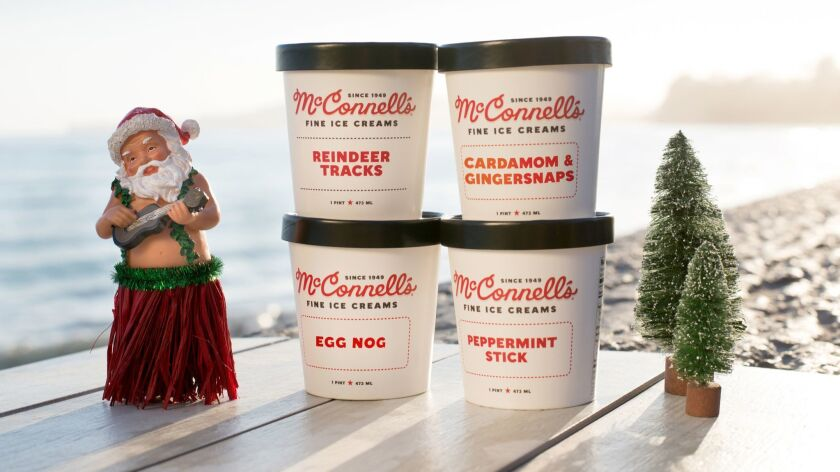All-natural ice creams are in flavors like cardamom and ginger snap from Santa Barbara-based brand McConnell's.