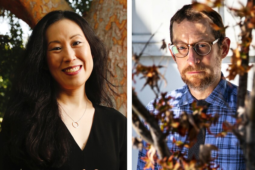 """""""The Walking Dead"""" showrunner Angela Kang and chief content officer of """"The Walking Dead"""" franchise Scott Gimple."""