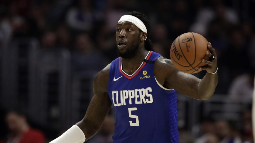 Clippers center Montrezl Harrell plays against the Sacramento Kings on Feb. 22