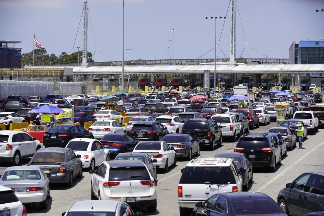 Traffic at San Ysidro Border