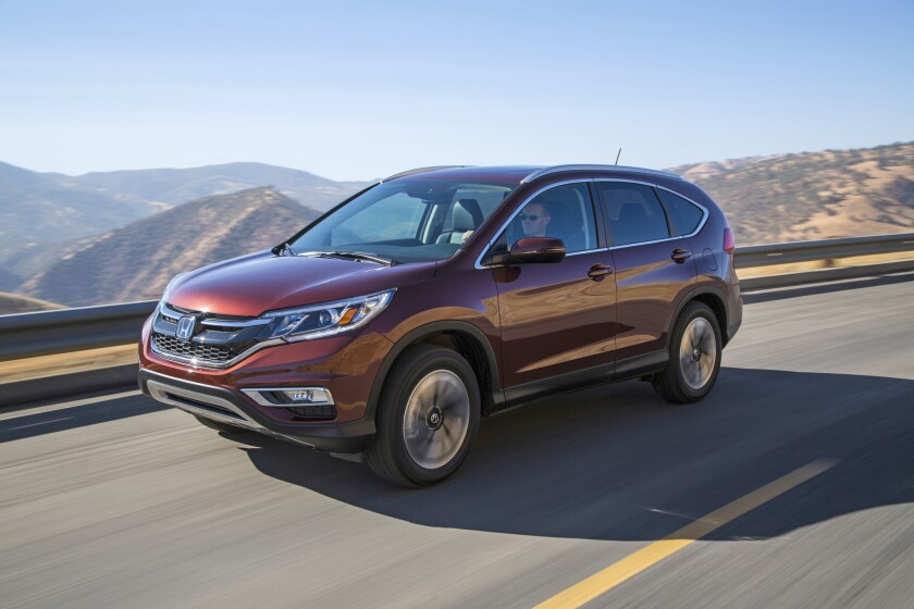 The mid-level EX trim line, which starts at $25,420, comes with heated seats, backup camera, moonroof, lane-change camera, keyless entry, and a touchscreen audio system.