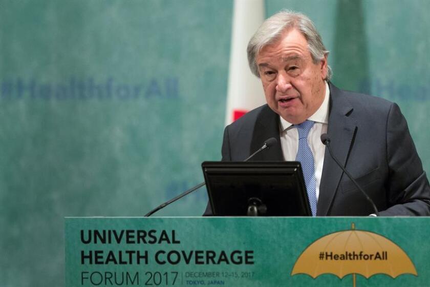El secretario general de la ONU, António Guterres, pronuncia un discurso. EFE/Archivo