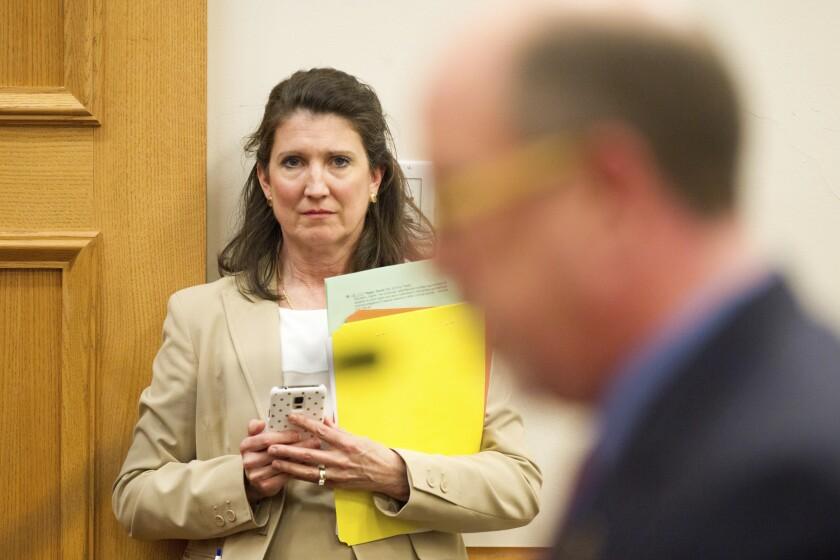 La representante republicana Susan Lynn, en una audiencia legislativa en Nashville, Tennessee.