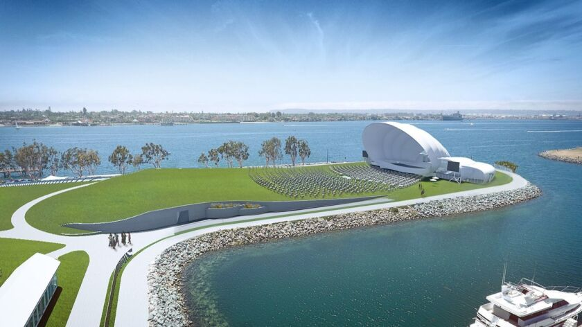 A drawing of the San Diego Symphony's proposed Bayside Performance Park.