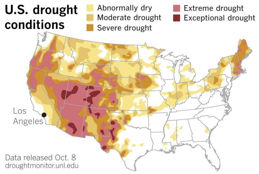 U.S. Drought Monitor data released Thursday.