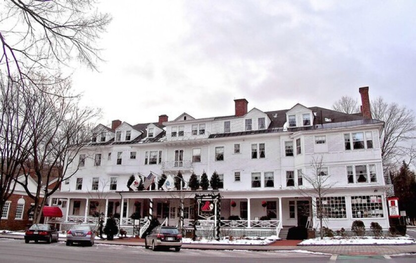 The Red Lion Inn is in Stockbridge, Mass., amid the Berkshire Mountains.