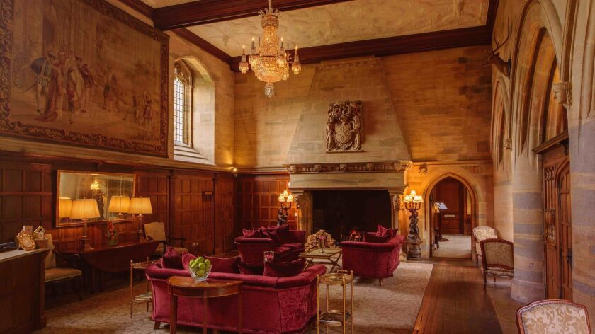 The Great Hall in the 16th Century Castle at Waterford Castle Hotel & Golf Resort.