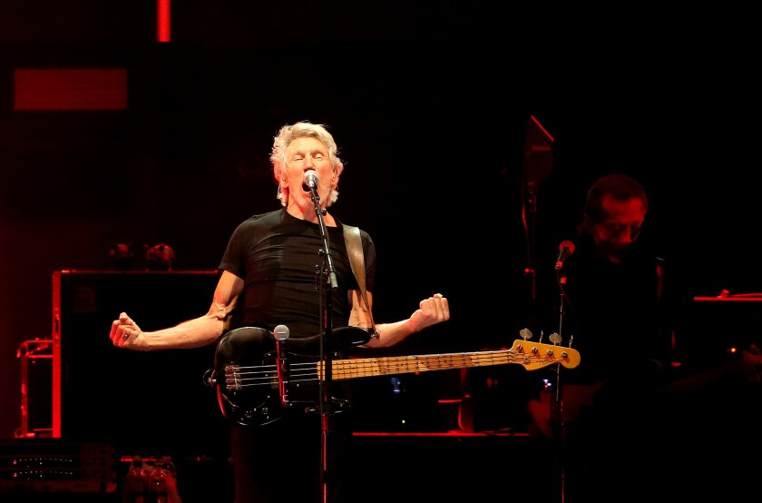 Roger Waters performs Oct. 16 during the second weekend of Desert Trip in Indio, Calif.