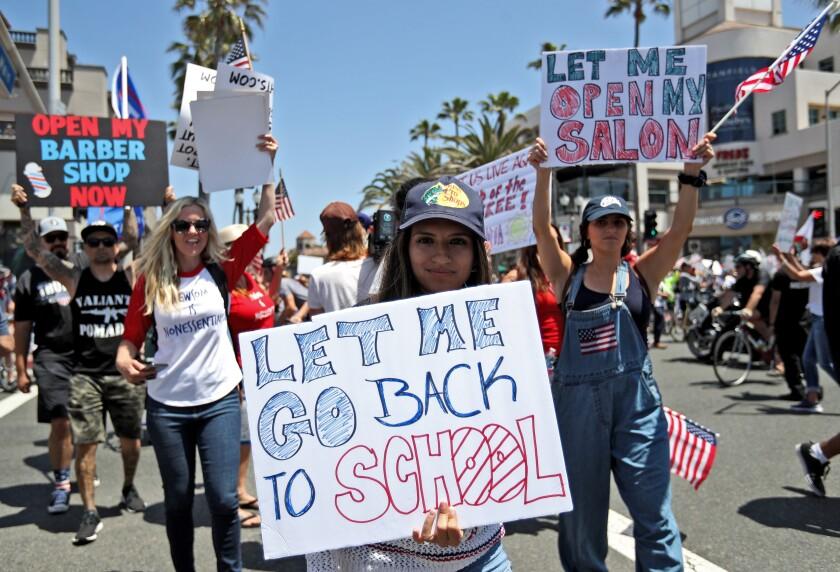 Huntington Beach protest