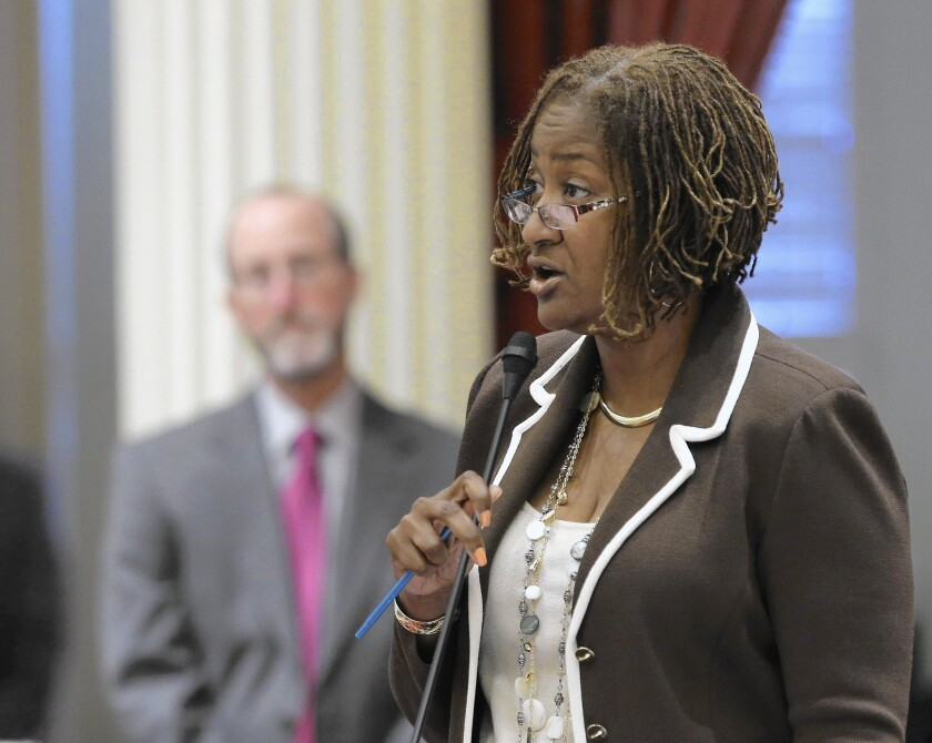 State Sen. Holly Mitchell (D-Los Angeles) is one of the legislators seeking to regulate seizures of assets by police.