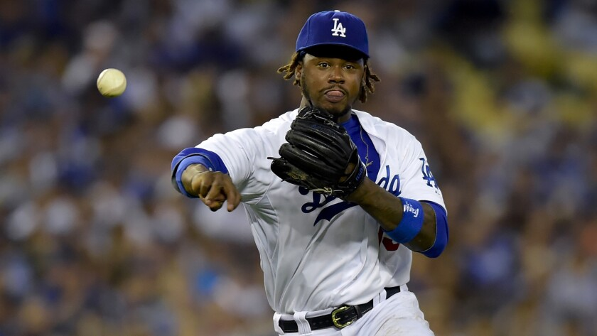 Dodgers shortstop Hanley Ramirez makes a throw to first base during the team's 6-4 loss to the Washington Nationals on Monday. Ramirez has struggled at the plate since returning from the disabled list. ** Usable by LA, DC, CGT and CCT Only **