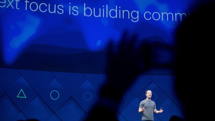 In this April 19, 2017, file photo, Facebook CEO Mark Zuckerberg speaks at his company's annual F8 developer conference in San Jose, Calif.