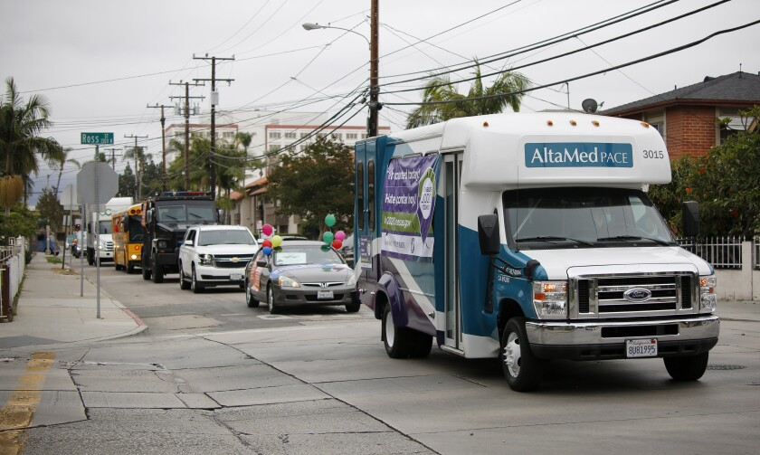 The County of Orange Census campaign passed by in a 15-vehicle parade around Santa Ana on May 29.