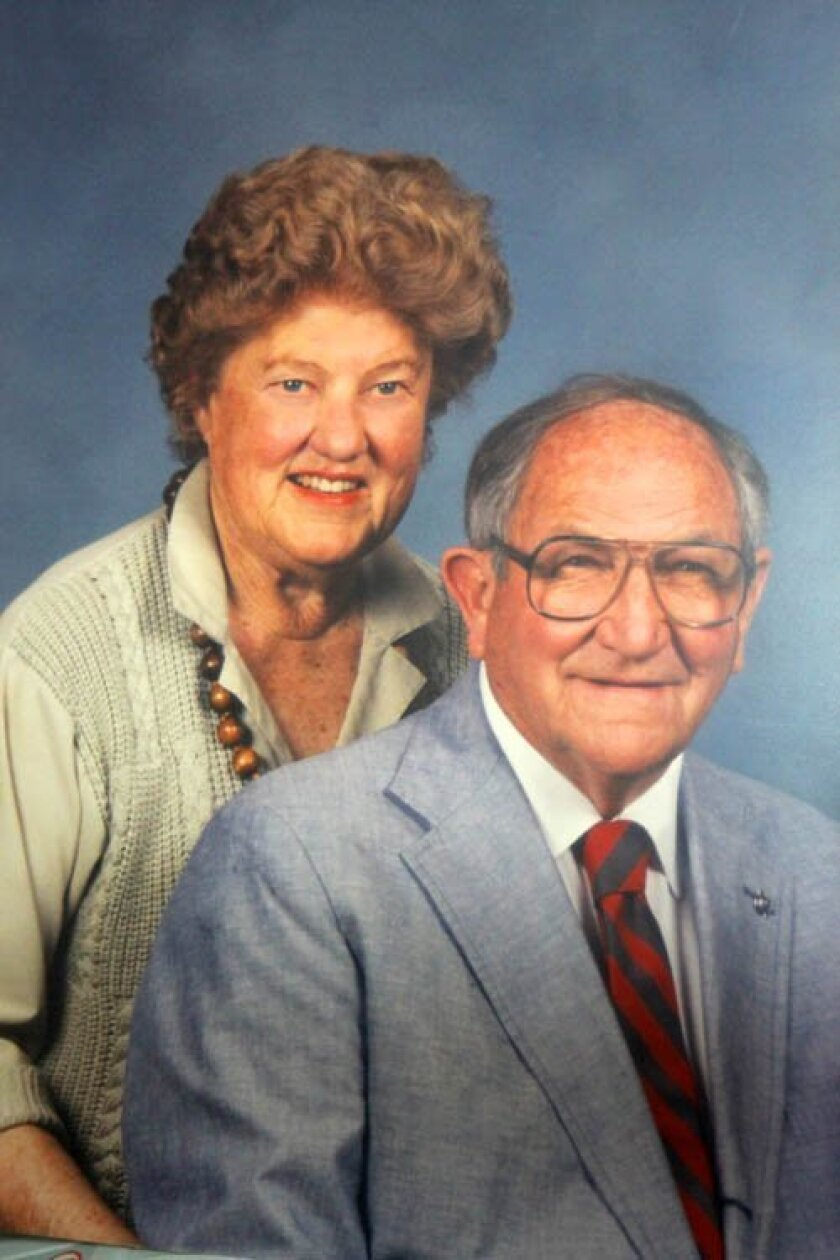 Bill Gibbs with his wife, Barbara, who died 20 years ago.