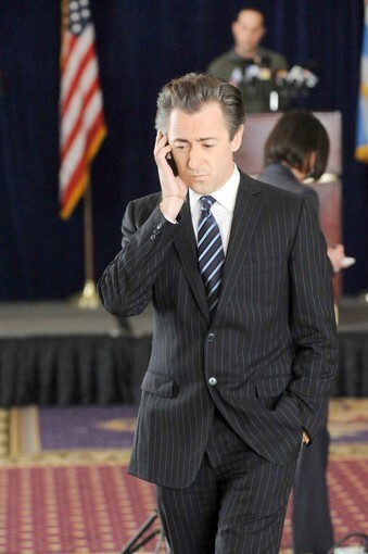 """Alan Cumming as Eli Gold on """"The Good Wife."""" Costumes designed by Daniel Lawson."""