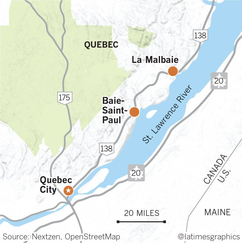 Map Of Canada Quebec City.This Quebec Train Trip Is A Feast For Body And Soul Los Angeles Times