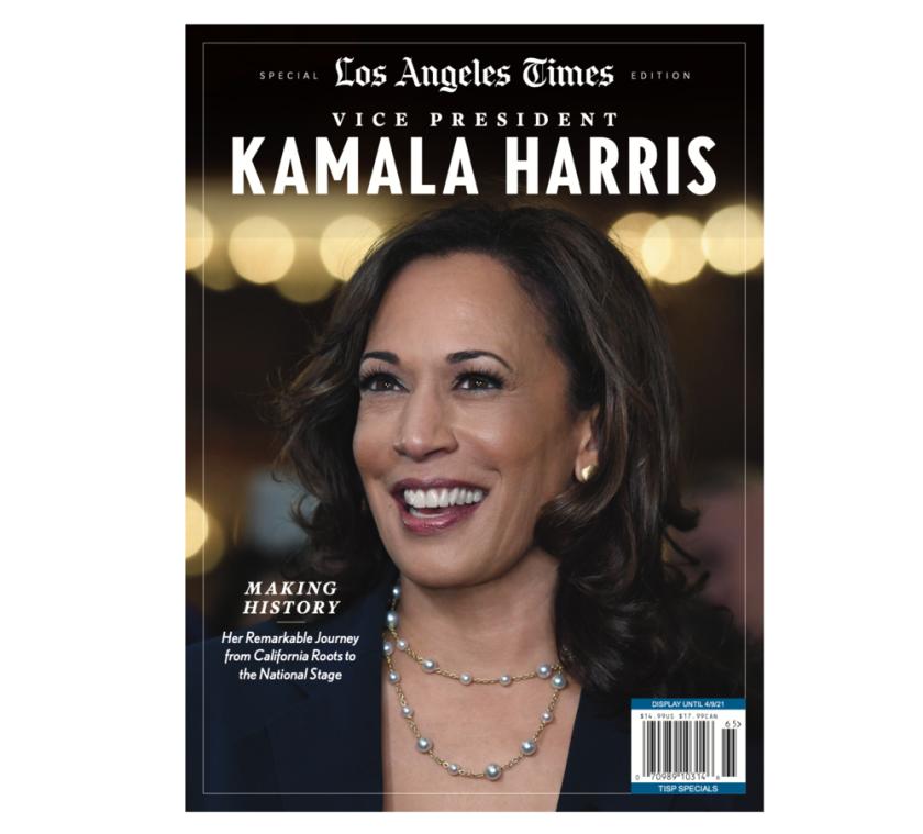 """Vice President Kamala Harris"" magazine, a Los Angeles Times special edition"
