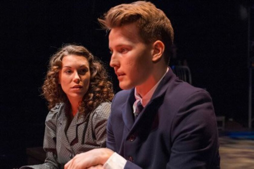 """Wendla (Taylor Aldrich) and Melchior (Dave Thomas Brown) struggle through their teen years in """"Spring Awakening."""" Daren Scott"""