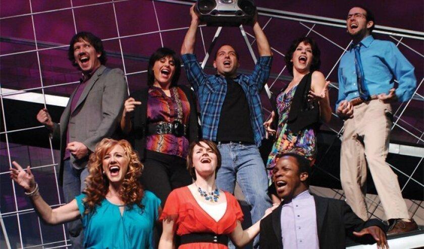 "The cast of Lamb's Players Theatre's ""miXtape."""