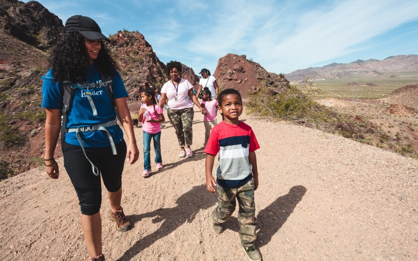 An Outdoor Afro hike at Lake Mead National Recreation Area in Nevada.