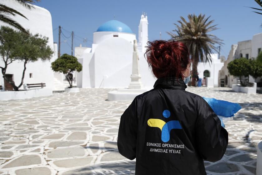 Virus Outbreak Greece Islands