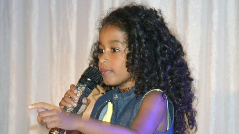 Jordyn Curet became the first top winner in the Burbank Singing Star 9- to 12-year-old category. (P