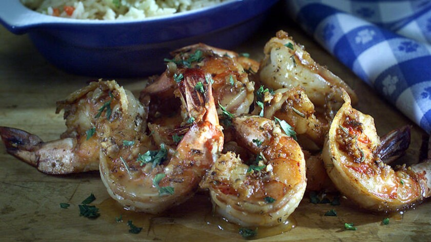 Try this barbecue shrimp recipe, plus great tips for buying shrimp at the market