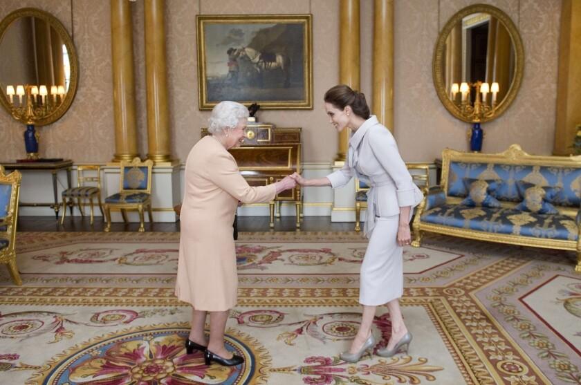 Angelina Jolie, Queen Elizabeth
