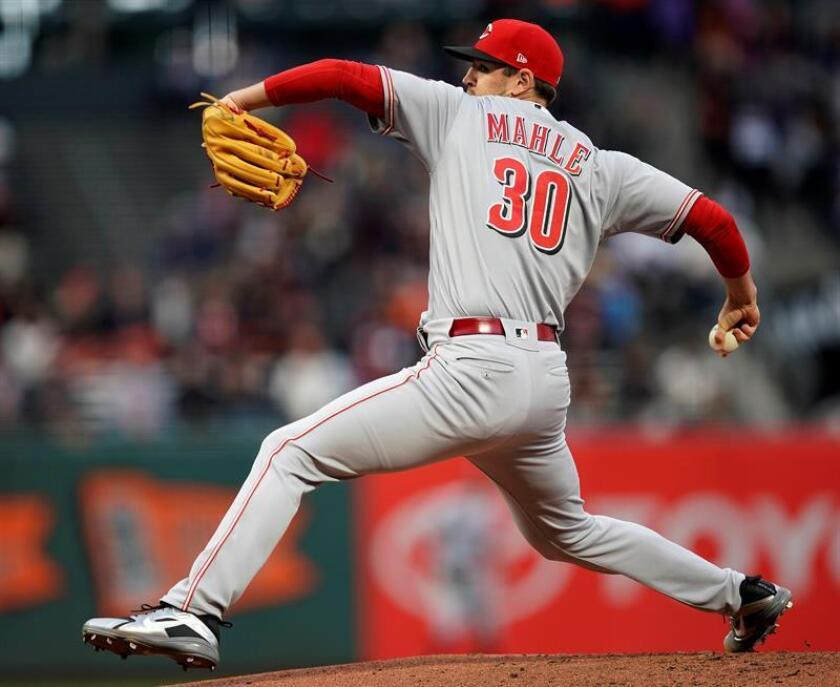 Tyler Mahle, lanzador de los Rojos de Cincinnati. EFE/Archivo