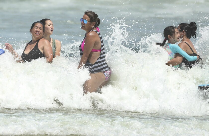 Isaias is expected to return to hurricane strength as it nears Florida. (Stephen M. Dowell/Orlando Sentinel)