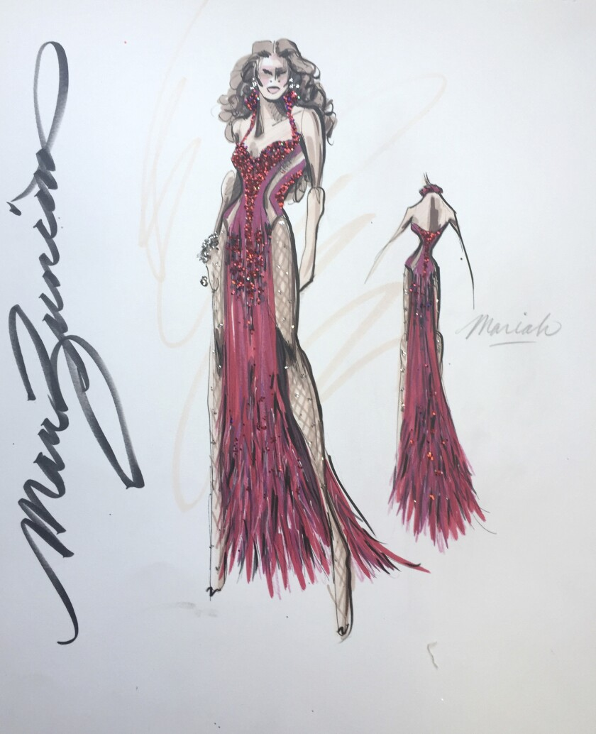 A sketch by Mark Zunino for Mariah Carey's Las Vegas residency.