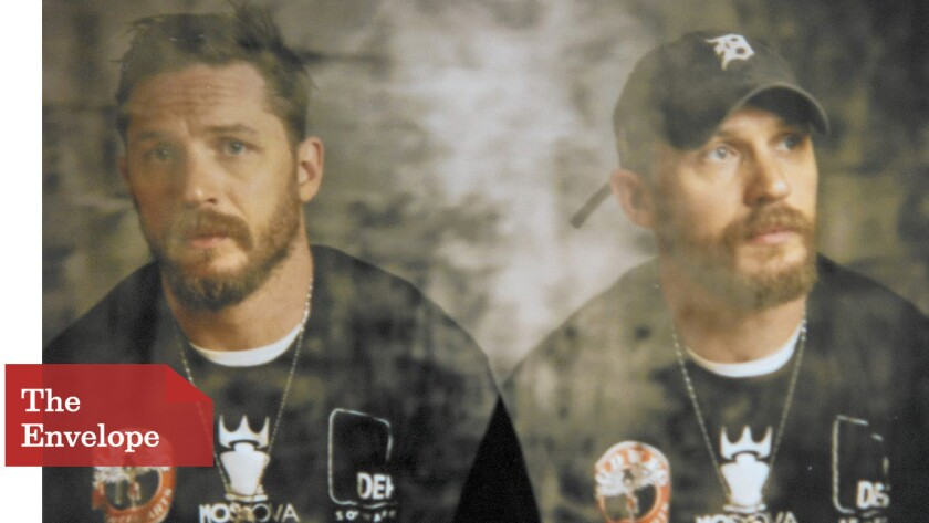 "Look, Tom Hardy isn't a bad guy. But he loves playing one -- and in ""Legend,"" he plays two. Here, the actor is photographed at the Toronto International Film Festival in September."