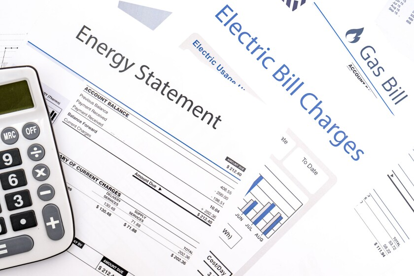 Energy, electric and gas bills.