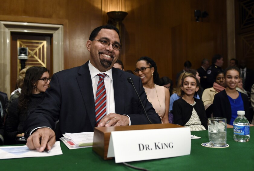 U.S. Secretary of Education John B. King Jr. is promoting a proposal that colleges stop asking applicants about their criminal histories early on in the process.
