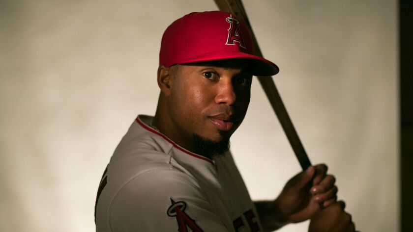 TEMPE, ARIZONA, THURSDAY, FEBRUARY 22, 2018 - The LA Angels of Anaheim player Luis Valbuena. (Rober