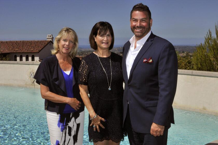 Listing Agents Kathy Lysaught and Gloria Silveyra Shepard, Rancho Santa Fe manager Paul Benec