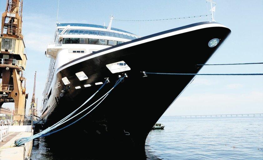 The Azamara Quest docked in Rio de Janeiro, Brazil.