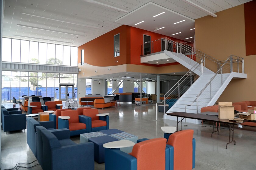 A Student Union building at Orange Coast College in Costa Mesa.