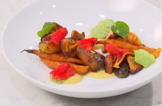 Video: Learn how to make Alma chef Ari Taymor's dish of carrots, chanterelles, peaches and vadouvan