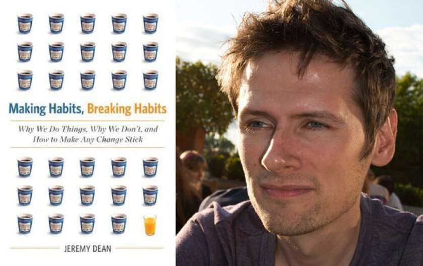 """Author Jeremy Dean and his book """"Making Habits, Breaking Habits"""""""