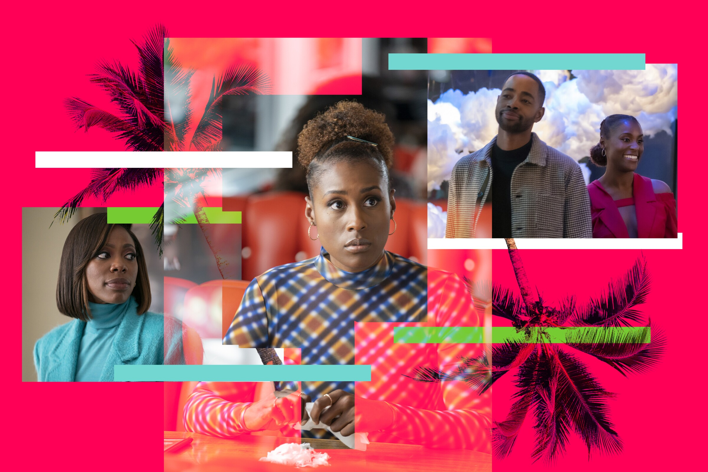 """A photo montage of characters from Season 4 of """"Insecure."""""""