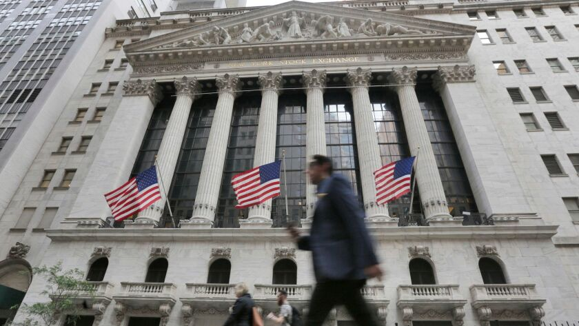 The Standard & Poor's 500 index ended April up a modest 0.3%. It slid 2.7% in March and sank 3.9% in February. Above, the New York Stock Exchange.