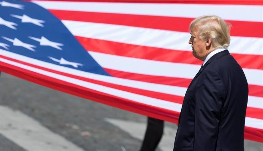 El coronel Robert Manning, portavoz del Departamento de Defensa, aseguró hoy que el Pentágono estuvo al margen de la decisión del presidente Donald Trump de posponer hasta el año que viene el desfile militar que el propio mandatario deseaba celebrar en Washington en noviembre. EFE/Archivo