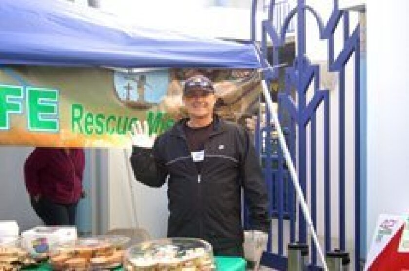 Volunteers at the Bread of Life Rescue Mission in Oceanside.