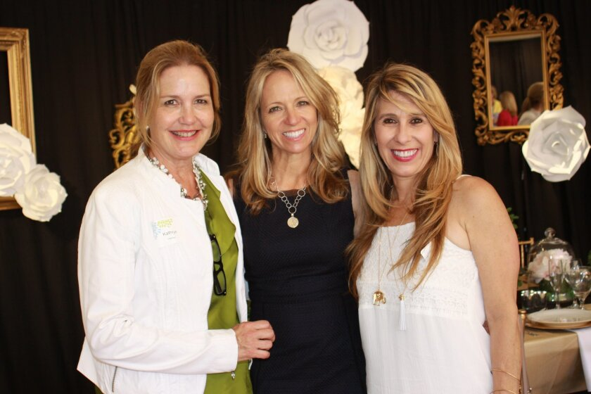 Kathryn Hamon (communications chair), Susie Piegza (2014 Jewel Ball chair) and Denise Vila (advisor)