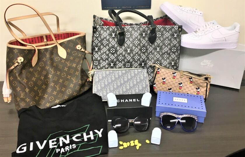 Seized counterfeit goods